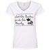 Barbie Ladies V-Neck T-Shirt