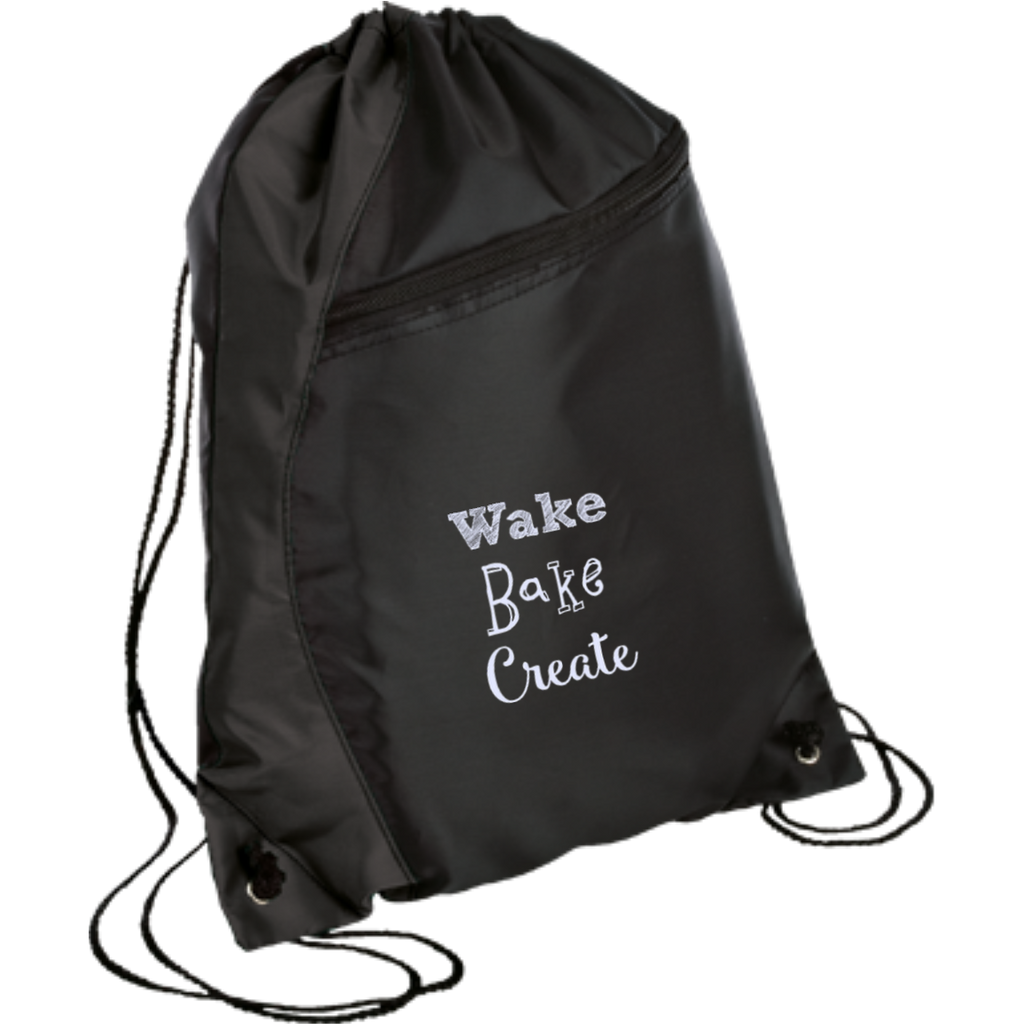 Wake Bake Create Drawstring Bag