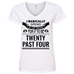 Waiting For 20 Past 4 Ladies V-Neck T-Shirt