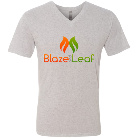Blaze And Leaf Men's  V-Neck T-Shirt