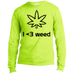 I <3 Weed Men's Long Sleeve T-Shirt