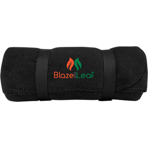 Blaze and Leaf Fleece Blanket