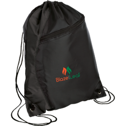 Blaze and Leaf Drawstring Bag