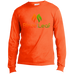 Blaze And Leaf Men's Long Sleeve T-Shirt