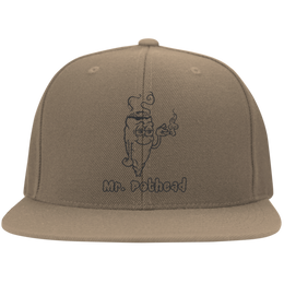 Mr Pothead Flat Bill Cap