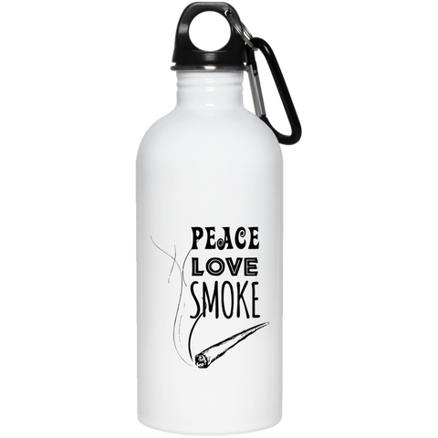 Peace Love Smoke Water Bottle