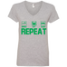 Smoke, Eat, Sleep, Repeat Ladies V-Neck T-Shirt