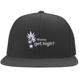 Wanna Get High? Flat Bill Cap