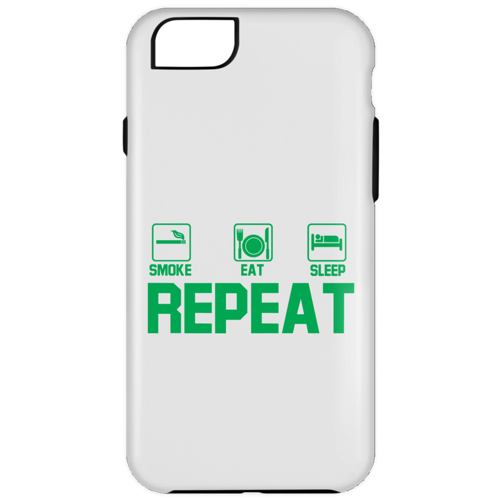 Smoke, Eat, Sleep, Repeat iPhone 6 Plus Tough Case