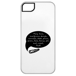Weed Words iPhone 5 Tough Case