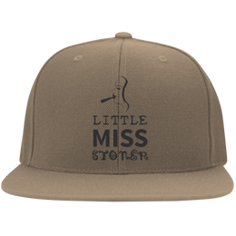 Little Miss Stoner Flat Bill Cap