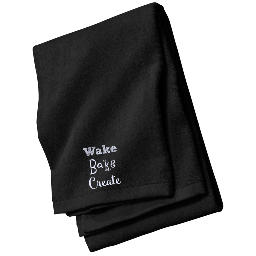 Wake Bake Create Beach and Bath Towel