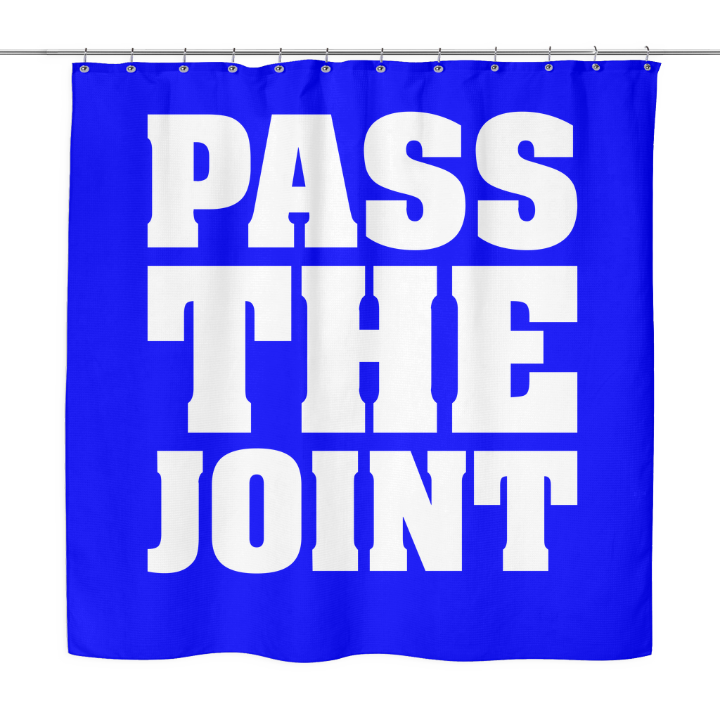 Pass The Joint Shower Curtain   Blaze and Leaf   Weed Clothing