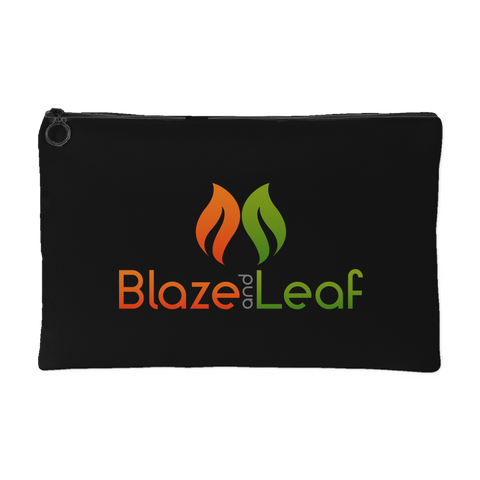 Blaze And Leaf Black Pot Purse