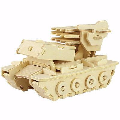 3D WOODEN VEHICLE PUZZLE FOR CHILDREN AND ADULTS