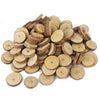 100pcs 1-3CM Approx 3CM Wood Log Slices Discs for DIY Crafts Wedding Centerpieces