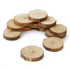 Image of 100pcs 1-3CM Approx 3CM Wood Log Slices Discs for DIY Crafts Wedding Centerpieces