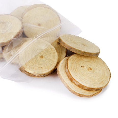 20pcs 5-6CM Wood Log Slices Discs for DIY Crafts Wedding Centerpieces
