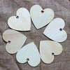 Image of 50pcs 100mm Blank Heart Wood Slices Discs for DIY Crafts Embellishments (Wood Color)