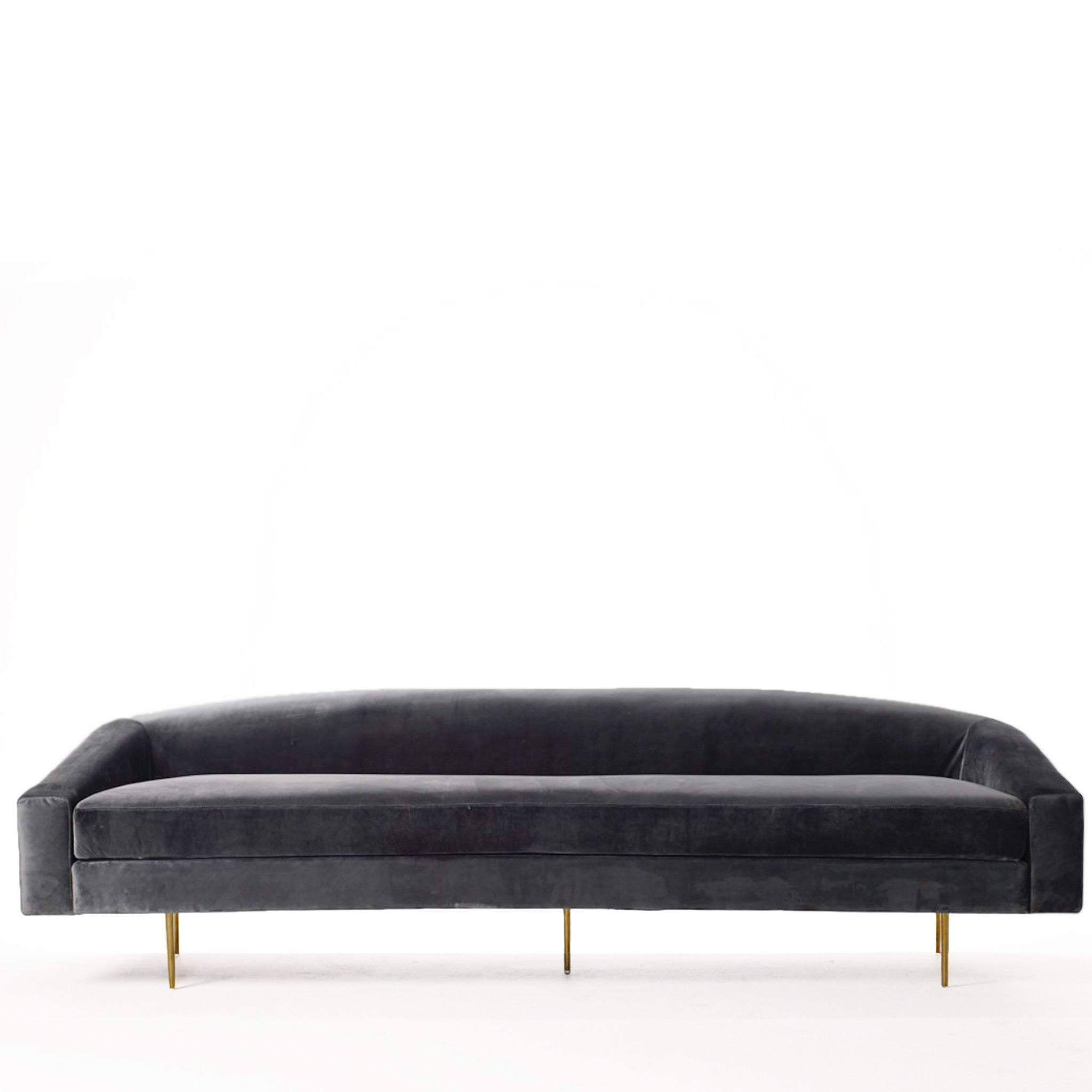 Vivi Sofa in Charcoal Velvet