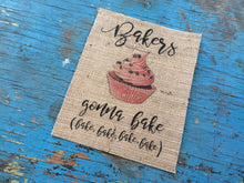 """Bakers Gonna Bake"" Burlap Print"