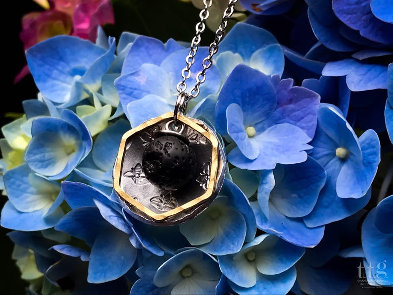 Bee Inspired Diffuser Necklace