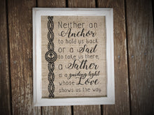 "Burlap ""A Father is..."" - Gifts for Dads"