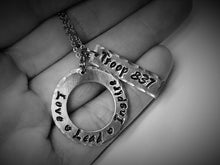 "Stamped Jewelry ""Love Lead Inspire"" Necklace"