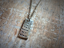 """Strong"" Morse Code Necklace"