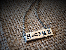 "North Carolina ""HOME"" Bar Necklace"