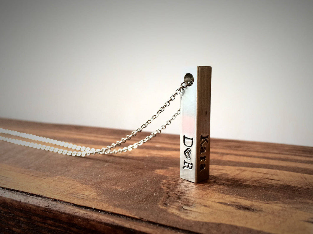 Name Bar Personalized Necklace