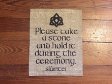 Oathing Stones Burlap Sign - Celtic Traditions