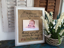 "🌈""Without The Rain, There Would Never Be Any Rainbows"" Rainbow Baby Burlap Print"