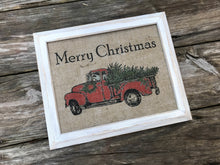 Red Truck and Tree - Merry Christmas