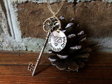 Key Ornament - Round Tag