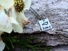 "North Carolina ""HOME"" Necklace - Square"
