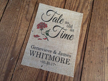 """Tale as Old as Time"" Burlap Print"