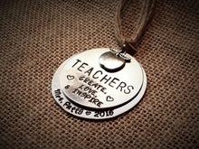 """Teachers Create Love & Inspire"" - Educator Ornament"