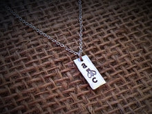 "🐝 Stamped ""A bee C"" Bee Necklace"