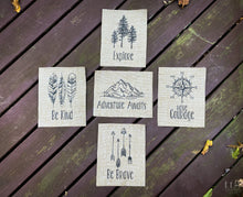 Adventure Series - Set of Five (5) - Be Kind • Have Courage • Explore • Be Brave • Adventure Awaits