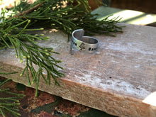 Plant More 🌲 Save the 🐝 Clean the 🌊 - Hand-Stamped Wrap Ring