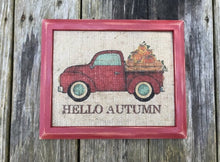 """Hello Autumn"" - Autumn Theme on Burlap"