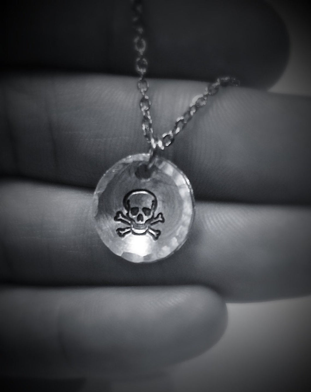 Pirate Skull and Crossbones Necklace