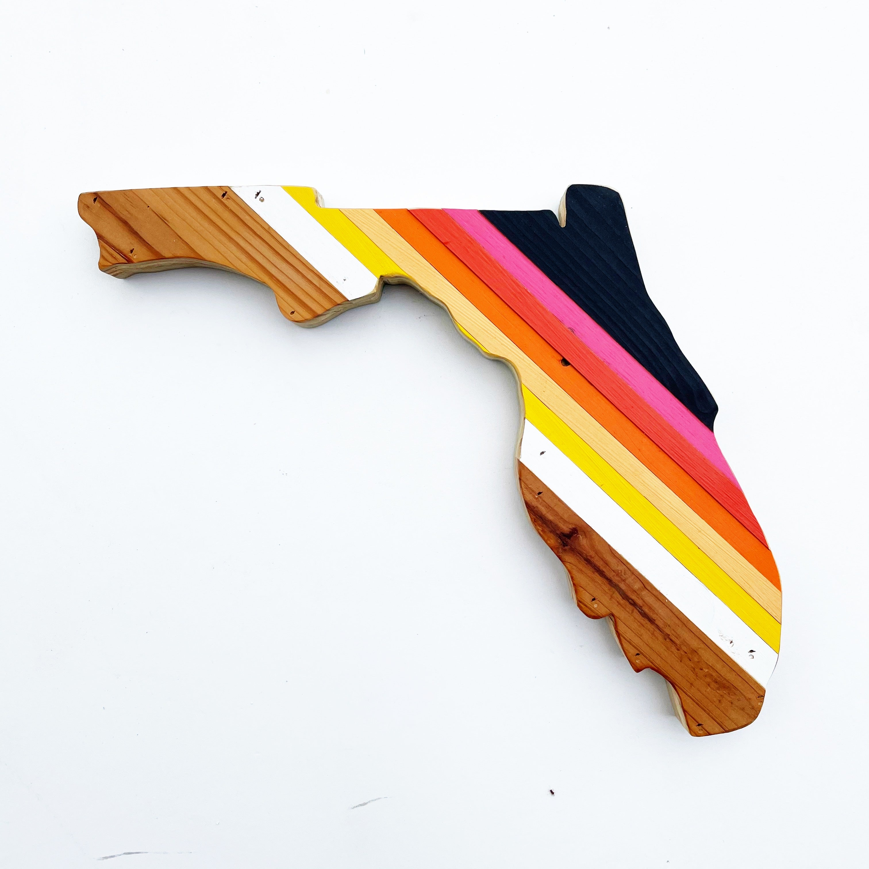 Retro Florida 15 in Wall Hanging | One of a Kind