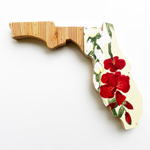 Vintage Florida Wall Hanging 15 in | One of a Kind