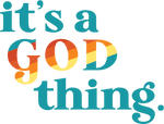 "Load image into Gallery viewer, '76 - ""IT'S A GOD THING."" Sticker - Hemlock & Heather"