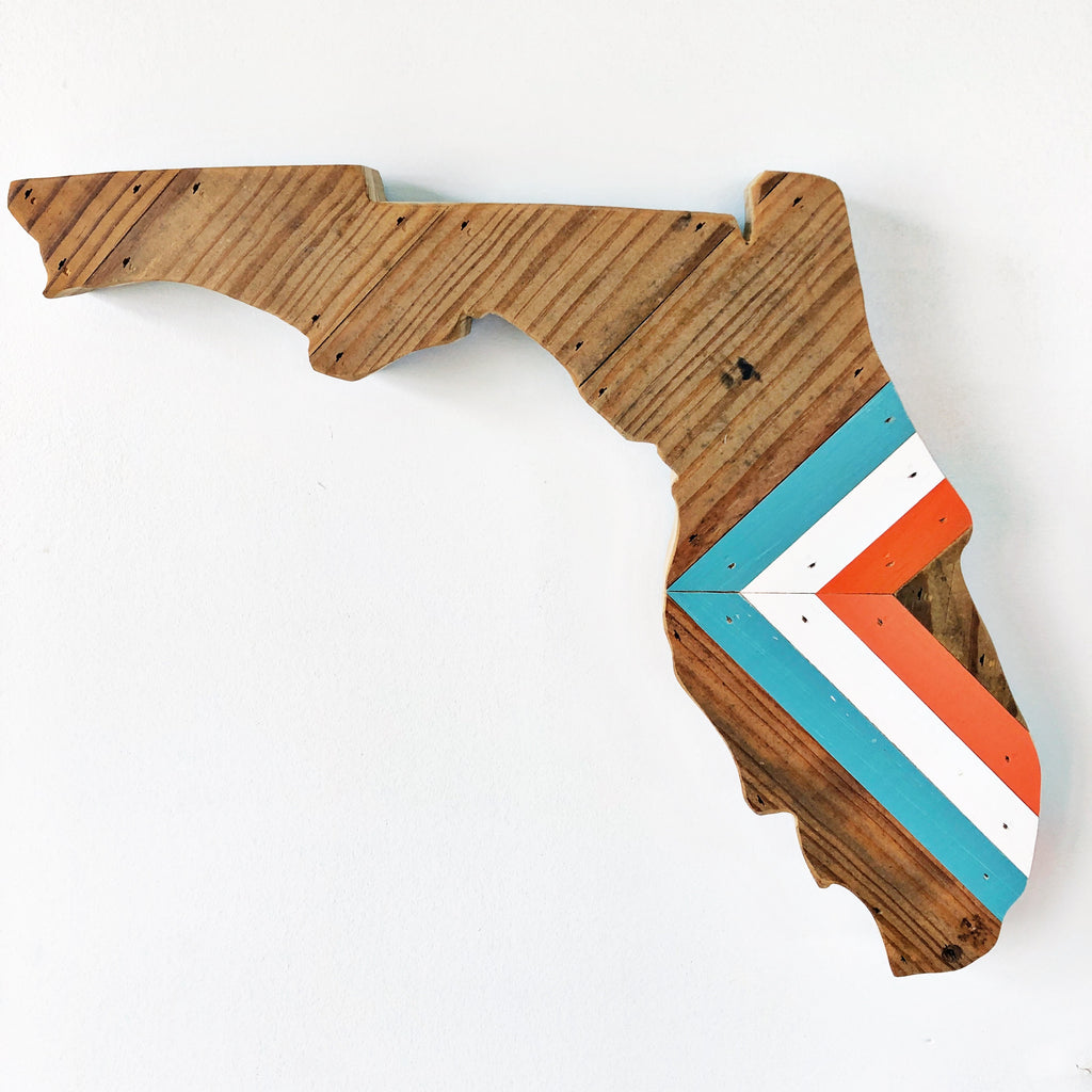 "CHEVRON FLORIDA - 15"" (One-of-a-Kind)"