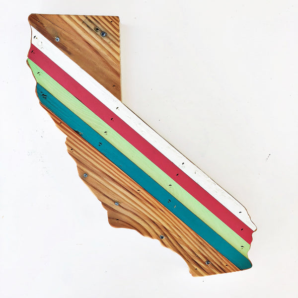 Reclaimed Wood California Wall Art