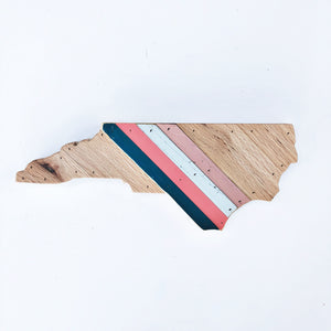 Reclaimed Wood North Carolina Wall Art