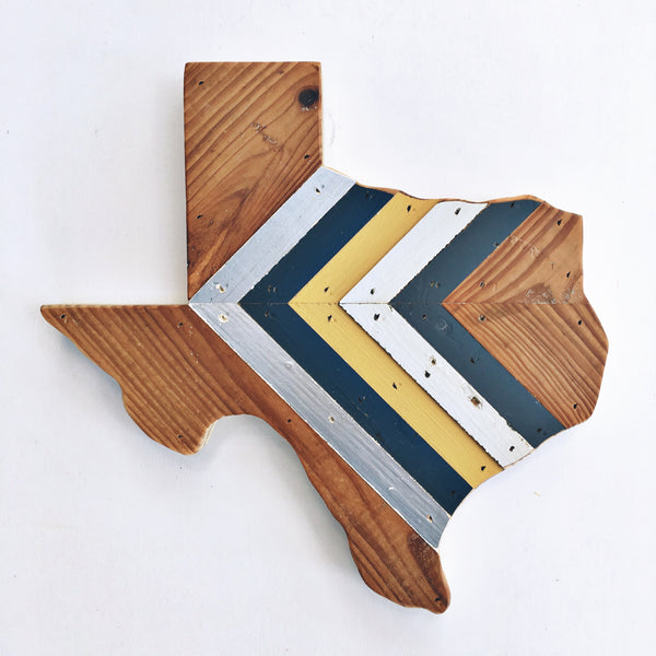 One-of-a-Kind Reclaimed Wood Texas Wall Hanging